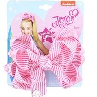 Enfants Jojo Big Bows Clip Coiffure Fashion Baby filles Bowknot Bowknot Ruban à cheveux Ruban à trois couches Dessin animé Coiffe Heaven Accessoires G4EIWFHHH