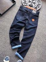 2021 Nuovo Designer Jeans Jeans Denim Pantaloni Denim Business Must-have Dentment e Summer Gendlemen Importato Denim di alta qualità Morbido Pantaloni di alta qualità di lusso
