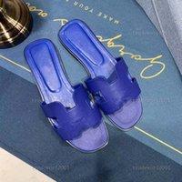 Çocuk 2021 Tasarımcı Kadın Sandalet Bayanlar Lüks Hakiki Deri H Terlik Düz Ayakkabı Oran Sandal Parti Düğün Ayakkabı