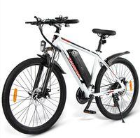 AB Stok] SAMEBIKE Elektrikli Bisiklet SY-26 Dağ Bisiklet Plaj MTB 10AH 350W36V Motor 26 inç Ebike Açık Bisikletler Yetişkin Bisikletler için
