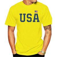 Männer T-shirts Black 2021 T-Shirt USA Frauen Männer Patriotische Amerikanische Top-Flagge 4. Juli