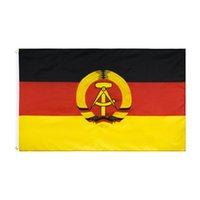 شرق ألمانيا العلم بالجملة freeshipping الأسهم المباشر مصنع شنقا 90x150 سنتيمتر 3x5ft
