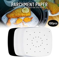 100pcs Air Fryer Parchment Paper Sheets Accessories for Airfryer Frying Cooking Baking Barbecue Food Mat QJS Shop 210408