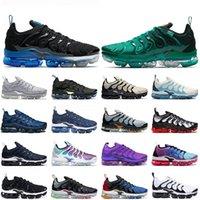 Büyük Boy 47 Siyah Kraliyet TN Artı Erkek Koşu Ayakkabıları Moda Atlanta Işık Kemik Metalik Altın Hiper Menekşe Limon Kireç Kadın Spor Eğitmenler Sneakers