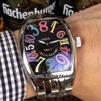 고품질 미친 시간 8880 CH col DRM Mens 자동 시계 블랙 다이얼 체크 스포츠 시계 스테인레스 스틸 팔찌 4 색