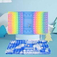 미국 주식 거대 대형 체스 판 안절기 장난감 파티 호의 푸시 거품 짜기 감각 목욕 감압 장난감 거품 보드 메가 점보 크기