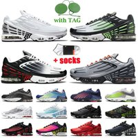 TN PLUS 3 Womens Mens Running Shoes Tuned 2 Multi White Ghost Green Aqua Black Red Navy Grey Crater Hasta Valor Blue Big Size US 12 Sportssneakerv2
