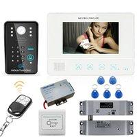 """""""rfid Wachtwoord Video Deurtelefoon Intercom Systeem Deurbel Camera 1000tvl + Elektrische Drop Bolt Lock Door Phones"""