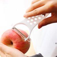 Edelstahl Peeler-Reibe Manuelle Slicers Gurkenschneider Gemüse Fruchtschale Shredder Slicer Küchenzubehör Meer Versand DHD7207