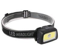 Wasserdichte LED Mini COB + LED Doppellicht Quelle Scheinwerferfischen Outdoor Camping Reiten Lichter Drehen Scheinwerfer Tragbare Batterie Leistung Kopflampe Fackel