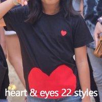 Mulheres Moda T-shirt Verão t - shirts Womens tops com olhos de coração impressão homens camisetas Meninos femininos meninas meninas de manga curta