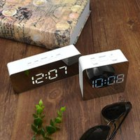 Wall Clocks LED Clock Watch Modern Brief Design 3D DIY Electronic Large Mirror Table Alarm Office Kids Room Date Time Desk