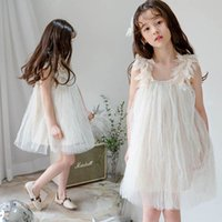 Girls Dresses Girl Clothes Teenage Kids Clothing Summer Feather Fluffy Princess Skirt Birthday Formal Dress B6124