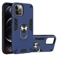Hybrid 360 Car Holder Magnet Cases for iphone 13 pro max 11 12 mini XS XR 6G 7G 8G Shockproof Hard PC+TPU+Finger Ring Bracket cover