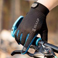 Cycling Gloves Mesh Bike Full Finger Summer Men Women's Long Mtb Touchscreen Breathable Racing Accessories