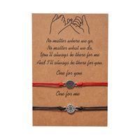 Antique Silver Hollow Compass Charm Strang Armbänder Set für Frauen Männer Mode Infinity Machen Sie einen einstellbaren geflochtenen Armband mit Paarkarten Schmuck Wachsschnüre