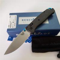 """İyi Bıçaklar Benchmade 535-1 535-3 Bugkout 535 Sade Bıçak 3.24 """"Fiyat! Saten Katlanır Karbon Bıçak, S90V Açık Kamp Poc Asur Kolları"""