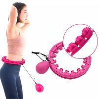 Hula-cerceaux de Hula pondérés pour adultes Enfants, Taille Ratation automatique réglable et exerciseur intelligent de massage à 360 degrés