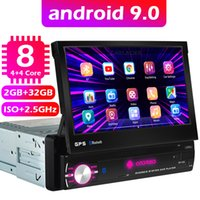 Android 9.0 1din 8 Core Core GPS الملاحة Player 7 '' Universa Car Radio WiFi Bluetooth MP5 1 Din Multimedia Player No DVD