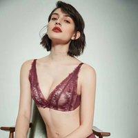 BH Set April Cherry Blossom Trace Kein Stahl Ring Unterwäsche Frauen Veranstaltung Verstellbarer sexy Spitzenanzug