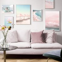 Paintings Sunlight Beach Sea Wall Art Colorful Balloon Cloud Canvas Painting Nordic Posters And Prints Pictures For Living Room Home Decor