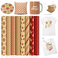 """Window Stickers XFX Infusible Transfer Ink Sheets 12 X 12"""" Christmas Sublimation Paper For T-shirt DIY Cricut Mugs Press Joy 8 Pcs"""