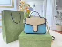 2021 Sommer Mini Postman Taschen Mode Eine Schulterkette Tasche Hohe Qualität Handtasche Boutique Shopping Brieftasche Tote1034