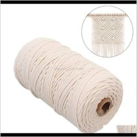 Craft Tools Arts, Crafts Gifts Home & Garden Drop Delivery 2021 2Mm X 200M Rame Cotton Cord Hanging Dream Catcher For Hangings Plant Hangers