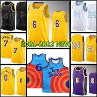 Los 23 Angeles 24 8 Basketball Jersey Space Jam 2 Tune Squad 6 Carmelo 7 Anthony 3 Davis 32 34 Alex 4 Black Caruso Mamba Russell 0 Westbrook Blanc Blanc Bleu