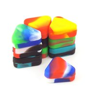 1.5ml Triangle Silicone Box Wax Container Box Silicone Jar Container Food Grade Jars Tool Wholesale DH8876