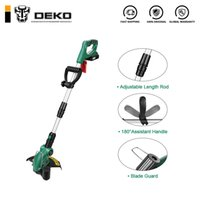 DEKO DKGT06 20V ليثيوم 1500mAh اللاسلكي العشب سلسلة المتقلب مع حزمة البطارية ومعلقات بليد T200115