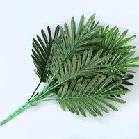 90 CM 39 Kafaları Tropikal Bitkiler Büyük Yapay Palmiye Ağacı Sahte Monstera Ipek Palmiye Yaprakları Yanlış Bitki Ev Bahçe Dekor için Yapraklar 2175 V2