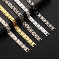 CAFI jewelry men's magnetic bracelet magnetic therapy hematite titanium steel hand ring detachable