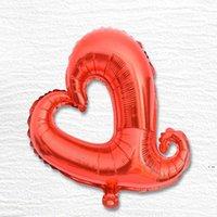 """إمدادات حزب 18 بوصة الهيليوم الألومنيوم احباط بالونات 18 """"شكل قلب الجوف الحب الخوخ ل ديكور الزفاف HWD6166"""