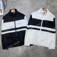 21ss Erkek Kadın Tasarımcılar Trençkot Ceketler Yaka Yaka Mektuplar Giyim Streetwear Giyim Kapşonlu Erkek Giyim Pamuk Siyah Beyaz Boy