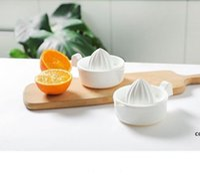 Mutfak Aletleri Beyaz Manuel Sıkacağı Turuncu Limon Mini Meyve Sebze Sıkacağı Aksesuarları Çift Güverte Sıkacaklar Yüksek Kalite DHF7553
