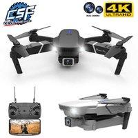 UAV Cevennesfe Novo Drone 4K 1080P HD Grande Angle Camera Dual WiFi FPV Posicionamento Altura Mantenha o Dobrável RC Helicóptero Drones Presente Q0602