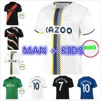 2021 2022 The Toffees Soccer Jerseys James Richarlison Kean Davies Uniformi Adulto + Kids Kit + Calzini Set completi 21/22 Casa Away Away GK Training Camicie Thai