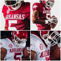 Обработка колледжа NCAA Arkansas Sec 5 Rakeem Boyd 13 Feleipe Franks 16 Treylon Barks 33 Treylon Barks Пользовательские футбольные