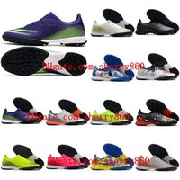 2021 x ghosted.3 TF أحذية كرة القدم العشب الرجال المرابط أحذية كرة القدم scarpe da calcio الأزرق الأخضر الوردي