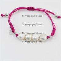 Charm Bracelets Trend Fashion 925 Sterling Silver Pearl & Tag Weaving  Premium Quality European Spanish Styles Birthday Present Gift