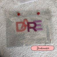 25.5X19CM fashion C transparent collection classic makeup bag organizers buckle PVC receipt case