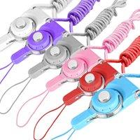 Cuerda de cuello de correa de correa de correa para celular desmontable Cuerda de cuello de nylon para teléfono móvil Cámara de insignia MP3 USB Tarjetas de identificación de color mixto compatible con color