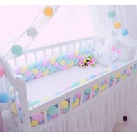 Bedding Sets 2m3m 4 Knot Soft Baby Bed Bumper Sides Braid 2 Meter Newborn Crib Pad Protection Cot Bumpers For Infant