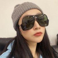 Güneş Gözlüğü Unisex Retro Boy Pilot Kadın Marka Tasarımcısı One Piece Büyük Güneş Gözlükleri Kadın Erkek Siyah Maske Shades Için UV400