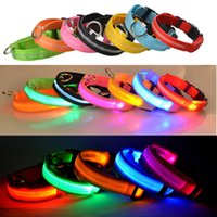 USB Rechargeable Pet Dog Collars LED Glowing Collar Luminous Flashing Necklace Outdoor Walking Night Safety Supplies