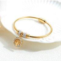 Charm Tree of Life Pendant Bracelets Accessori Donne Accessori Oro rosa Colore in acciaio inox Bangles Trendy Gioielli Regali per donna