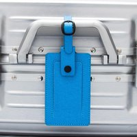 Card Holders Blue Diagonal Stripes With Colored Straps Luggage Tags Baggage Name Suitcase Address Label Holder Travel Accessories