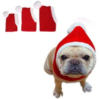 Dog Apparel Knitted Pet Winter Christmas Hat Warm Cat Plush Ball Cap Puppy Small Woolen Xmas Cute Headwear Pets Headgear Accessories
