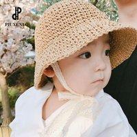Luxury Designer Visors Summer Strooien Hat for Child Babu Kids Fashion Baby Boy Girl Beautiful Style Beach Sunhat 2021
